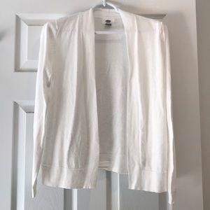 Basic White Cardigan